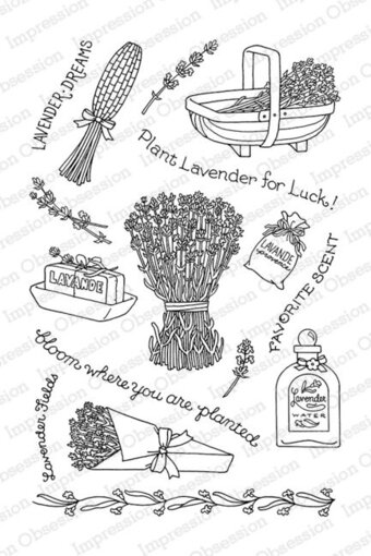 Lavender Fields - Clear Stamp