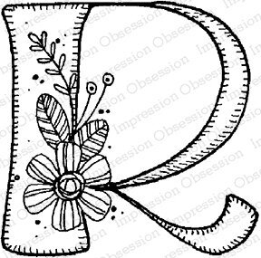 Floral R - Cling Stamp