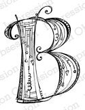 Letter B Monogram - Cling Rubber Stamp