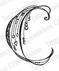 Letter C Monogram - Cling Rubber Stamp