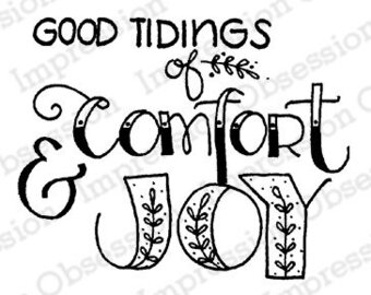 Comfort and Joy - Christmas Cling Stamp