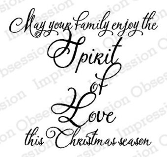 Spirit of Love - Christmas Cling Stamp