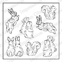Garden Animal Set - Cling Rubber Stamp