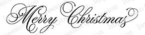 Merry Christmas - Cling Rubber Stamp