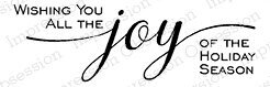 Wishing You Joy - Cling Rubber Stamp