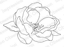 Rose Bloom - Cling Rubber Stamp