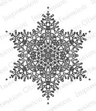 Crochet Snowflake 2 - Cling Rubber Stamp