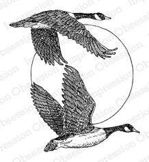 Flying Geese - Cling Rubber Stamp