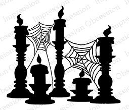 Spooky Candles - Cling Rubber Stamp