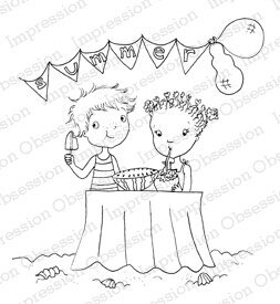 Summer Party - Cling Rubber Stamp