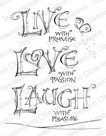 Live Love Laugh - Cling Rubber Stamp