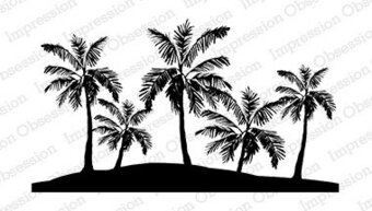 Palm Trees - Cling Rubber Stamp