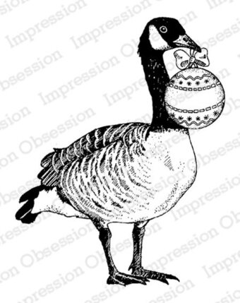 Holiday Goose - Christmas Cling Stamp