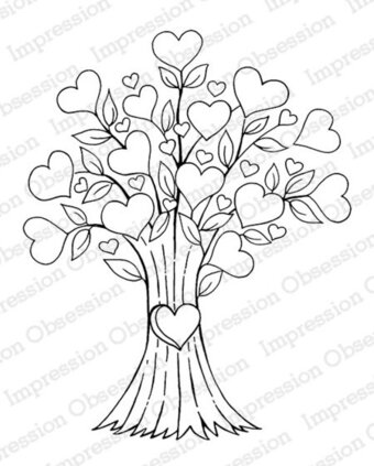 Heart Tree - Cling Stamp