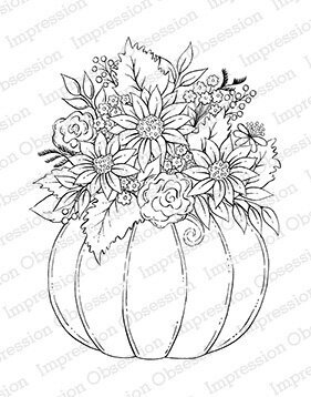 Pumpkin Arrangement - Cling Rubber Stamp