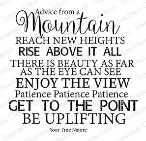 Advice Mountain - Cling Rubber Stamp