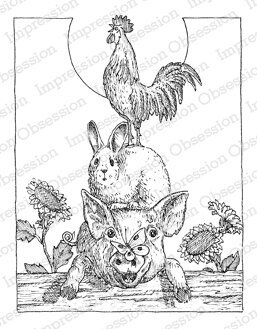Animal Stack - Cling Rubber Stamp