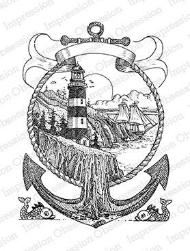 Lighthouse Anchor - Cling Rubber Stamp