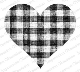 Gingham Heart - Cling Stamp