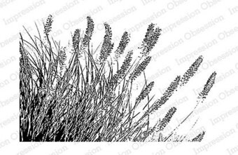 Wispy Grass - Cling Rubber Stamp