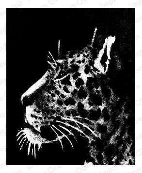 Leopard - Wood Mounted Rubber Stamp