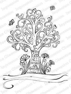 Swirl Tree - Cling Rubber Stamp