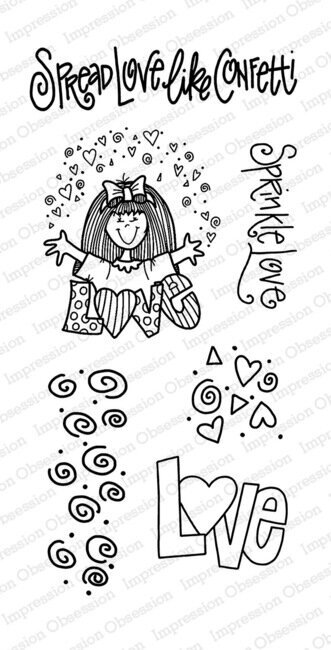 Confetti Love - Clear Stamp