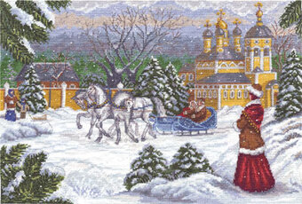 Russian Troika Carriage - Christmas Cross Stitch Kit