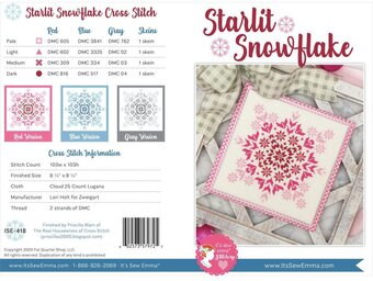 Starlit Snowflake - Cross Stitch Pattern