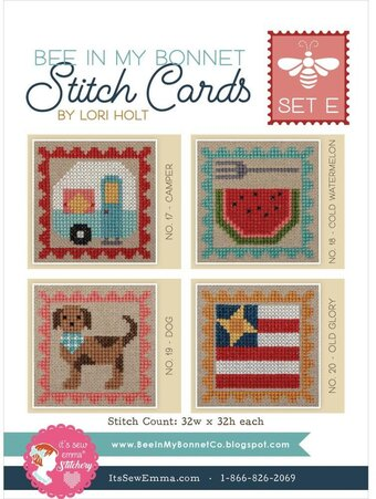 Stitch Cards Set E - It's Sew Emma - Cross Stitch Pattern