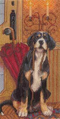Waiting for a Walk - Cross Stitch Kit