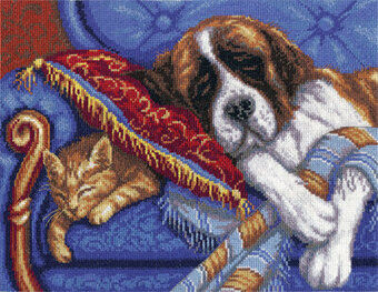 The Land of Dreams St. Bernard - Cross Stitch Kit