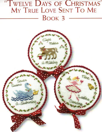 Twelve days of Christmas - Book 3 - Cross Stitch Pattern