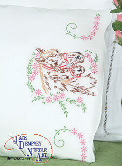Mare & Colt Perle Edge Pillowcases - Embroidery Kit