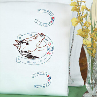 Horseshoe Pillowcases - Embroidery Kit