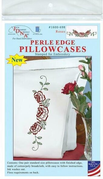 Roses Pillowcases - Embroidery Kit