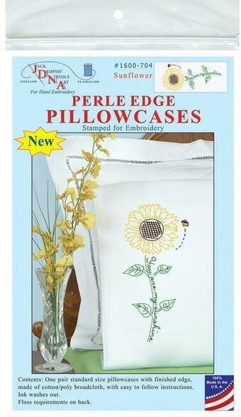 Sunflower Pillowcases - Embroidery Kit