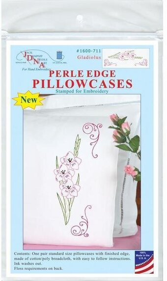 Gladiolus Pillowcases - Embroidery Kit