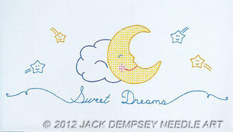 Sweet Dreams Children's Pillowcase Stamped Cross Stitch Kit
