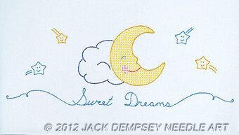 Sweet Dreams Children\u0027s Pillowcase St&ed Cross Stitch Kit