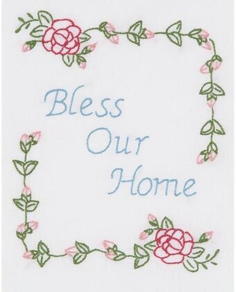Bless Our Home 8 x 10 Sampler - Embroidery Kit
