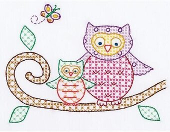 Owls Sampler - Stamped Cross Stitch Kit