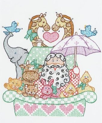 "Noah's Ark 11"" x 14"" Sampler Stamped Cross Stitch Ki"
