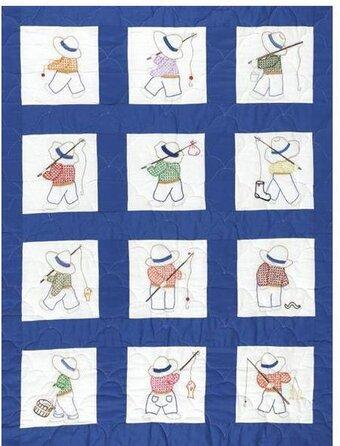 Jack Dempsey Needle Art Little Boys Quilt Squares - Embroidery Kit ... : little boy quilts - Adamdwight.com