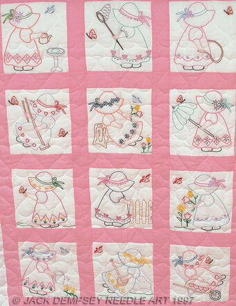 Girls Nursery Quilt Blocks - Embroidery Kit