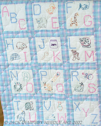ABC Nursery Quilt Squares - Embroidery Kit