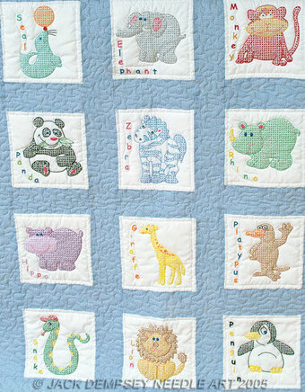Quilt squares embroidery patterns kits stitch