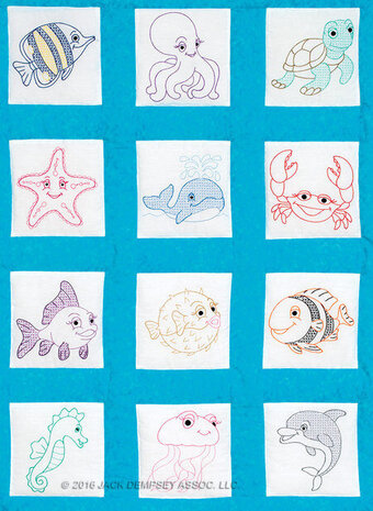 Under the Sea Nursery Quilt Blocks - Embroidery Kit