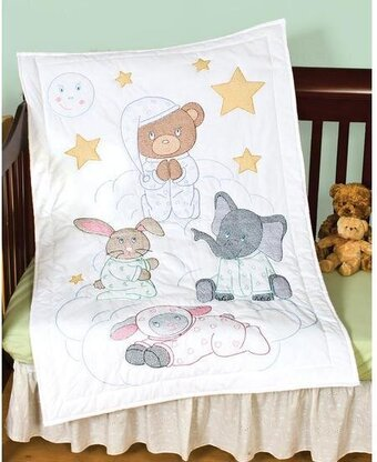 Dimensions Pet Friends Baby Quilt Stamped Cross Stitch