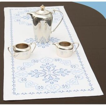 Americana Table Runner/Scarf - Stamped Cross Stitch Kit